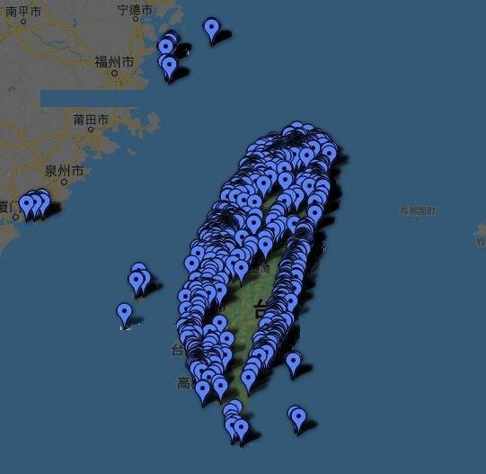 台湾のフリーWiFiスポット