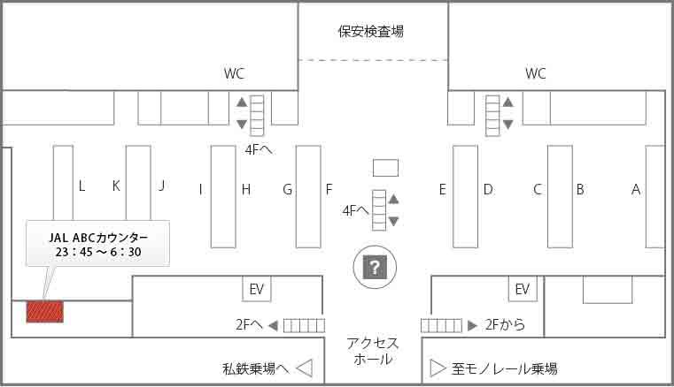 WiFiレンタルどっとこむの羽田空港JALカウンター