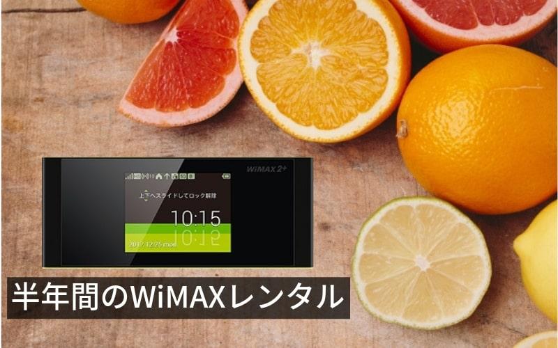 WiMAXレンタル半年