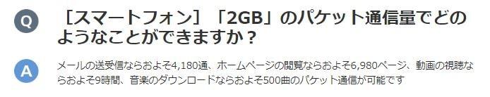 2GBでできることの目安